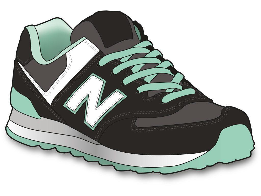 illustration vectoriel chaussure type basket