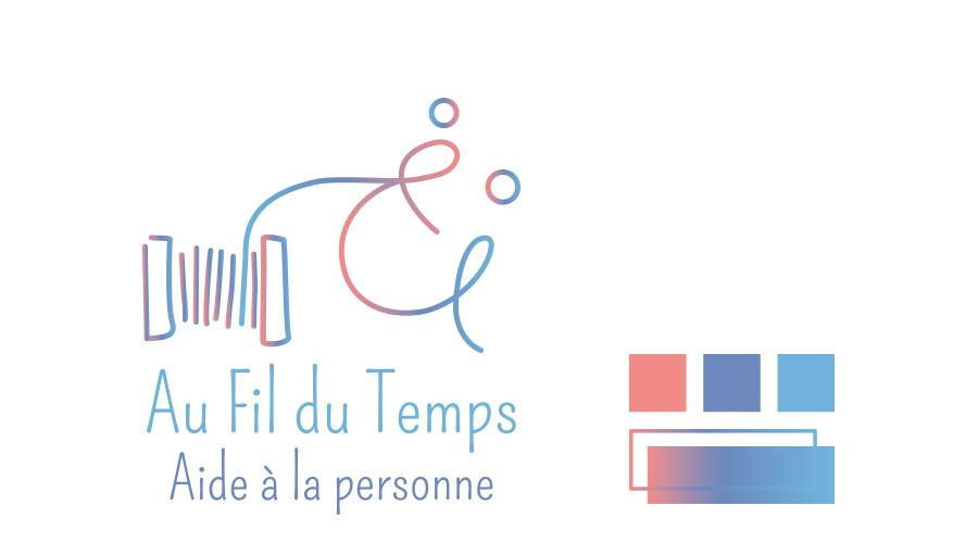 Logo et palette de couleurs, entreprise Au fil du Temps